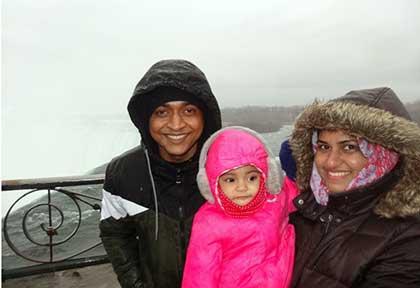 At Niagara Falls, Canada